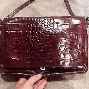 lord&Taylor leather /faux crocodile purse